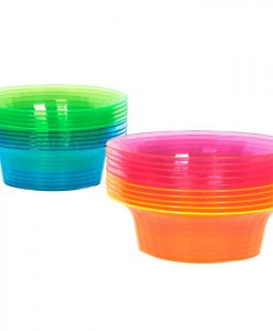 Neon Plastic Bowls Assorted (20 count)