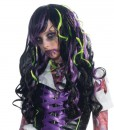 Black with Purple and Green Streaks Child Wig