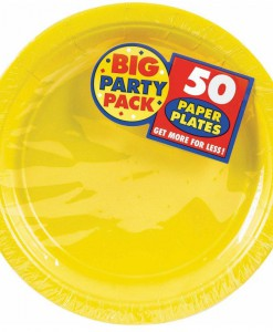 Yellow Sunshine Big Party Pack - Dessert Plates (50 count)