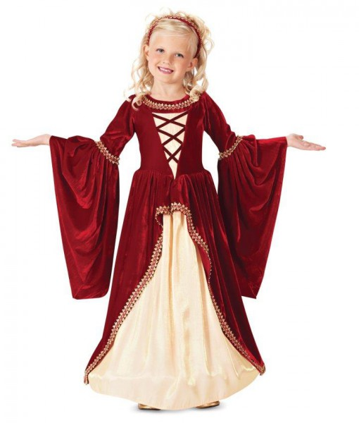 Crimson Renaissance Princess Kids Costume