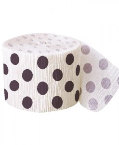 Black and White Dots Crepe Paper