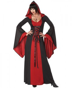 Red and Black Deluxe Hooded Robe