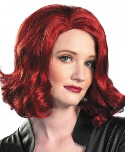 The Avengers Black Widow Wig (Adult)