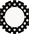 Black and White Dots Dinner Plates (8 count)