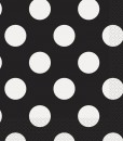 Black and White Dots Lunch Napkins (16)