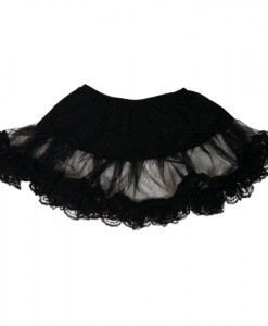 Lace Petticoat (Black) Plus Adult