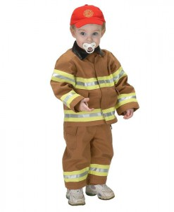 Jr. Fire Fighter Suit Tan Toddler Costume