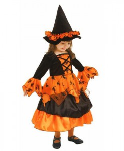Little Orange Witch Dress and Hat Toddler / Child Costume