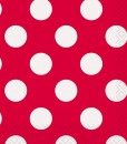 Red and White Dots Beverage Napkins (16)