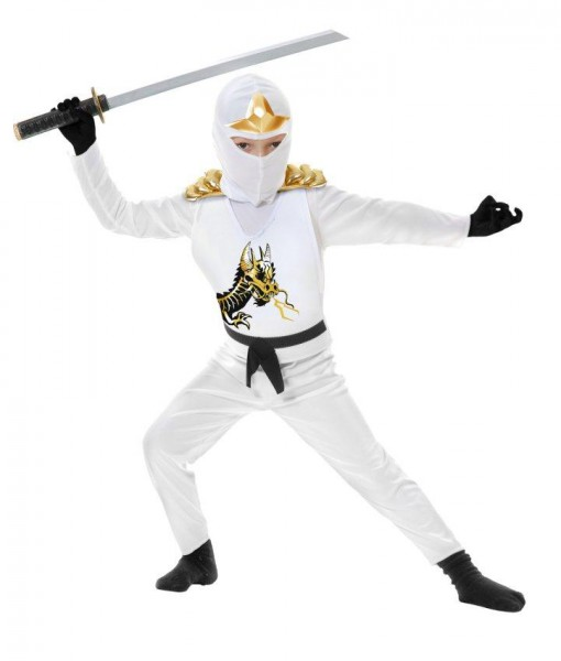 White Ninja Avengers Series II Toddler Costume