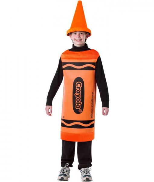 Crayola Outrageous Orange Crayon Tween Costume