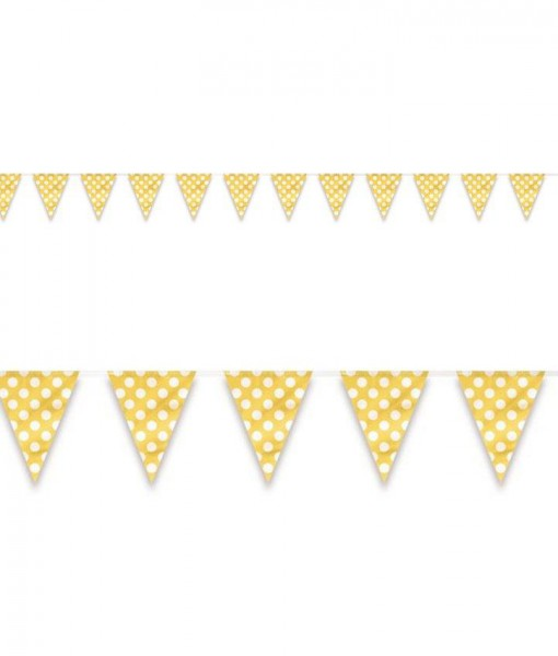 Yellow and White Dot Flag Banner