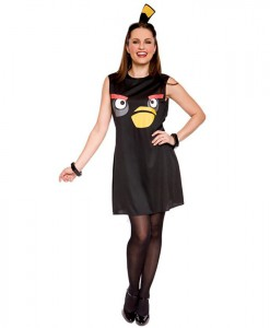 Rovio Angry Birds Sassy Black Bird Adult Costume