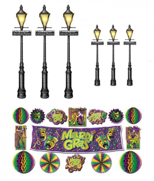 Mardi Gras Decor Street Lights Props Wall Add-Ons