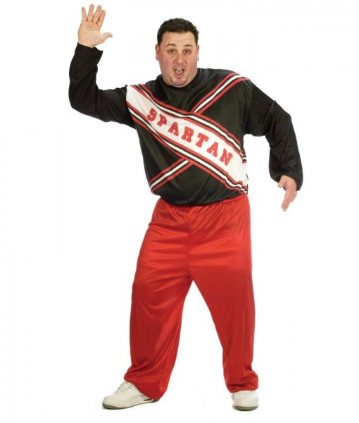 SNL Spartan Cheerleader Male Adult Plus Costume
