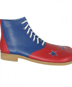 Red And Blue With Stars Clown Adult Shoes