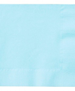 Pastel Blue (Light Blue) Beverage Napkins (50 count)
