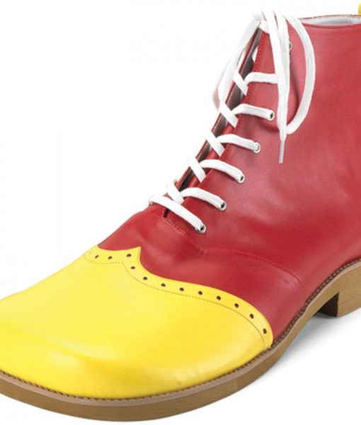 Wing Tip Clown (Red/Yellow) Adult Shoes