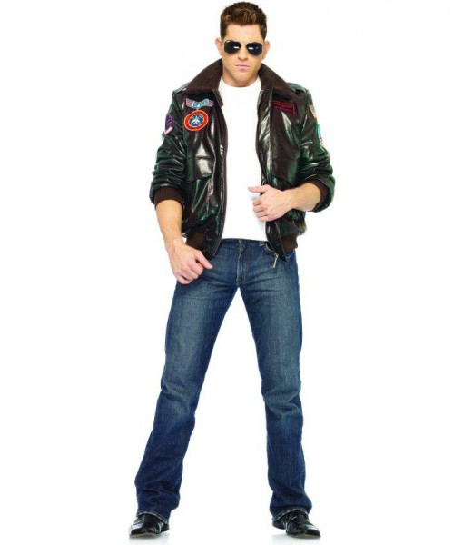 top gun bomber jacket adult costume male