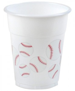 Baseball Fan - 14 oz. Plastic Cups (8 count)