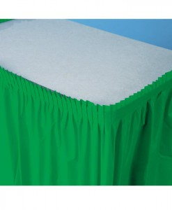 Emerald Green (Green) Plastic Table Skirt