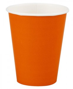 Sunkissed Orange (Orange) 9 oz. Paper Cups (24 count)