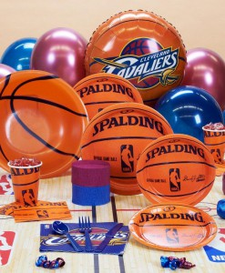 Cleveland Cavaliers NBA Basketball Deluxe Party Kit