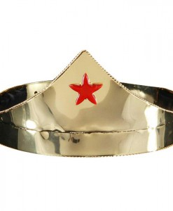 Star Gold Red Adjustable Adult Crown