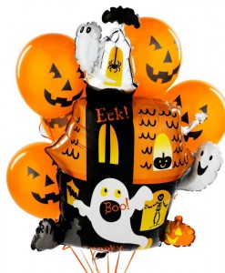 Halloween Haunted House Balloon Bouquet