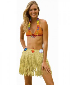 Adult 31 Plastic Hula Skirt