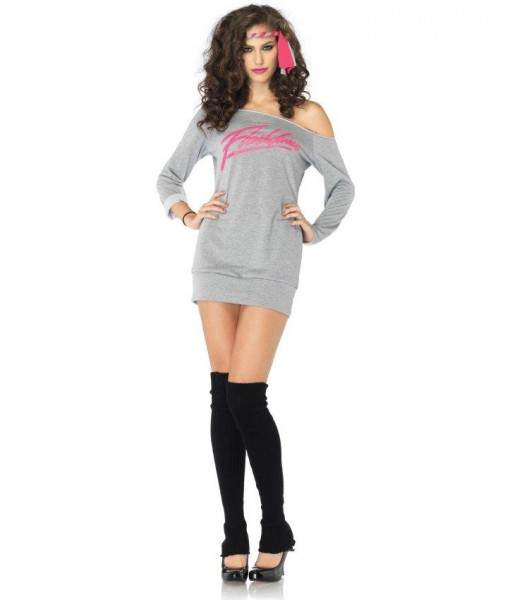 Flashdance - Sweatshirt Dress Adult Costume