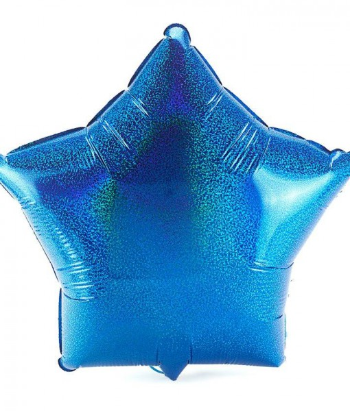 Blue Prismatic Star 18 Foil Balloon