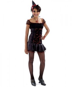 Rockin' Roses Witch Teen Costume