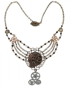 Steampunk Gear Chain Antique Necklace Adult