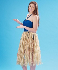 Adult 36 Natural Raffia Hula Skirt