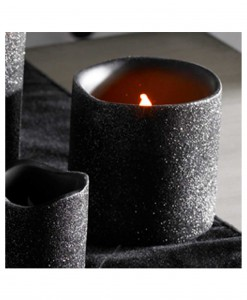 3 Inch Black Glitter LED Candle
