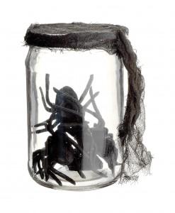 5.5 Inch Glass Jar w/spiders