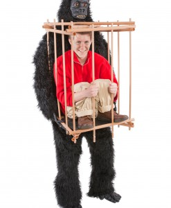 Man in a Gorilla Cage Costume