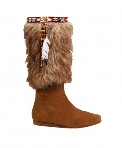 Adult Brown Indian Boots