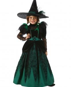 Girls Emerald Witch Costume