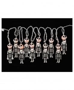 10 Ct. Electric Skeleton String Lights Set