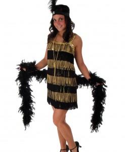 Fringe Gold Flapper Costume