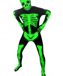 Mens Glow Skeleton Morphsuit
