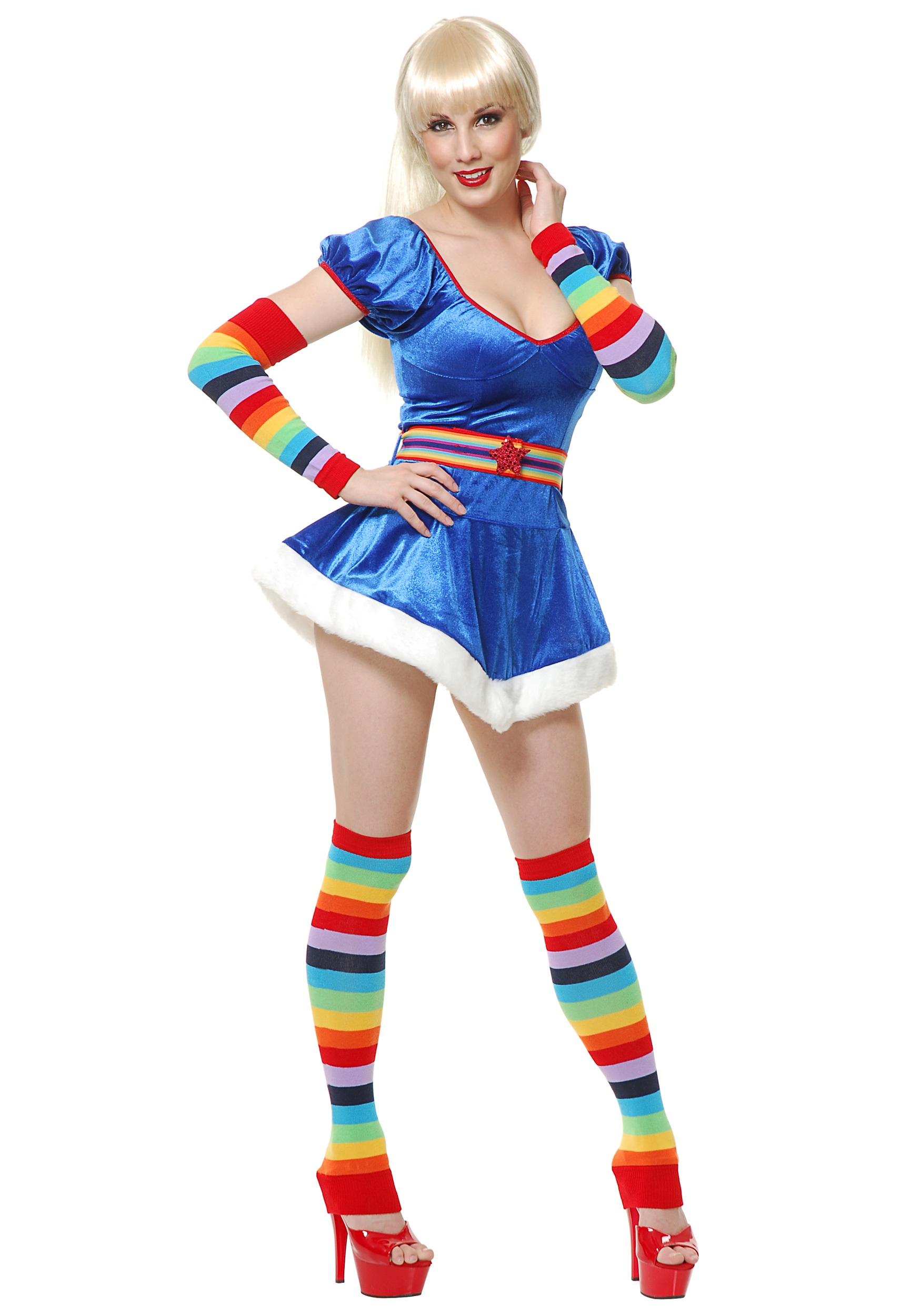 Sexy 80s Rainbow Vixen Costume