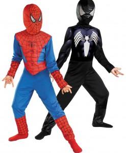 Kids Reversible Spiderman Costume
