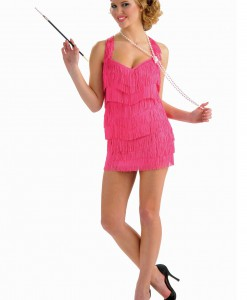 Pink Lindy Lace Flapper Costume