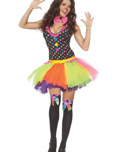 Polka Dot Tutu Clown Dress