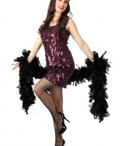 Tear Drop Plum Flapper Costume