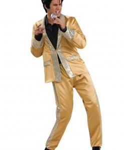 Deluxe Gold Satin Elvis Costume