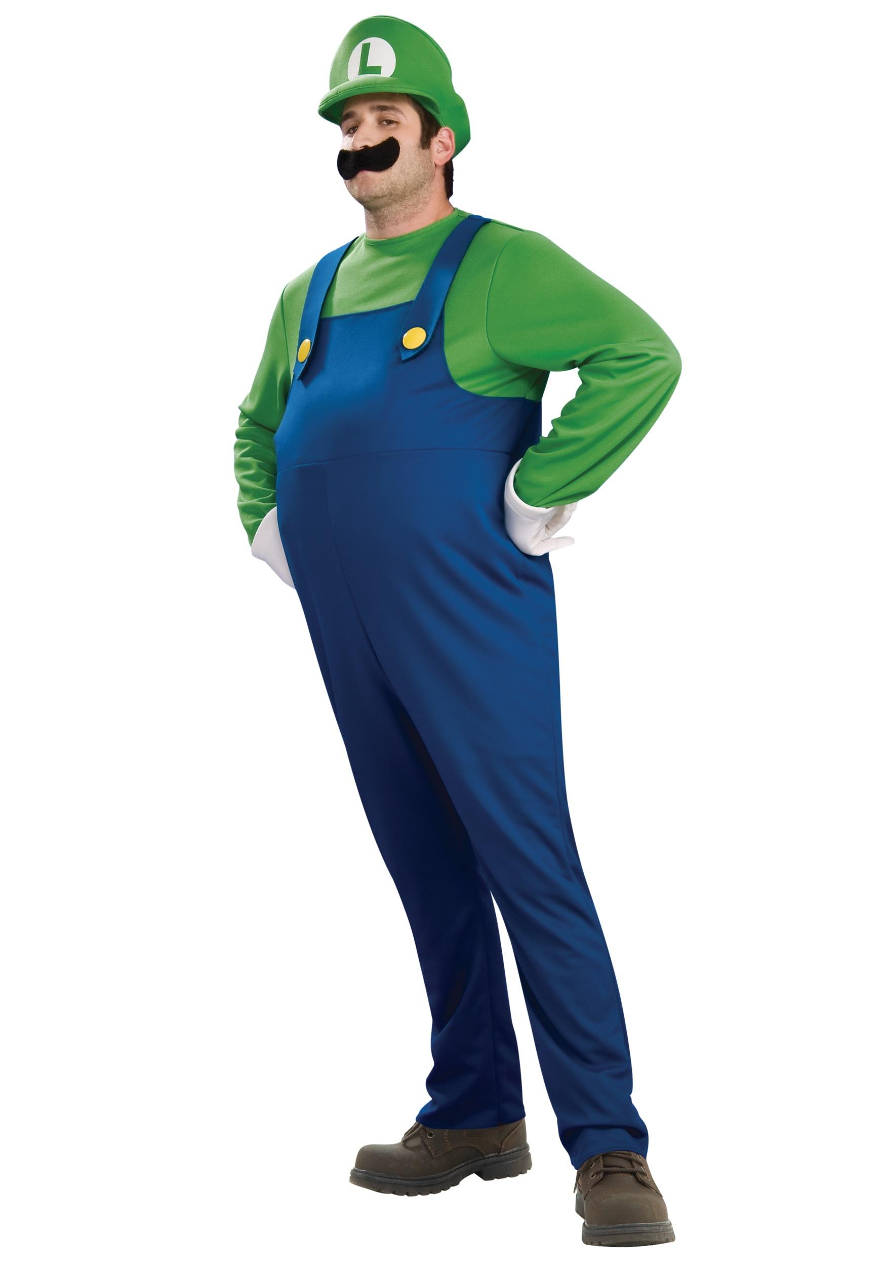 Adult Deluxe Luigi Costume Halloween Costume Ideas 2019